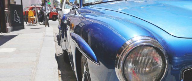 Old Car Blue