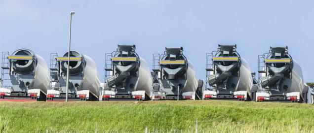 Concrete mixer truck fleet